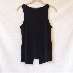 Banana Republic Black Split Back Sleeveless Shirt